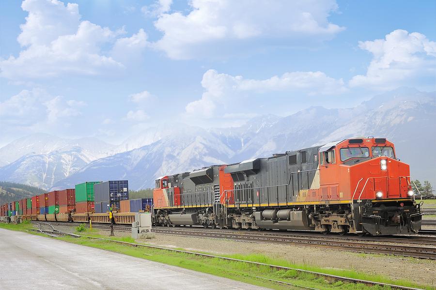 Intermodal Rail Freight Shipping